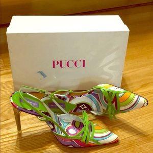 Authentic Emilio Pucci Mint size 5 Heels NWT.